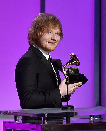 """Британец Эд Ширан получил Grammy в номинации """"Лучшее сольное поп-исполнение"""""""