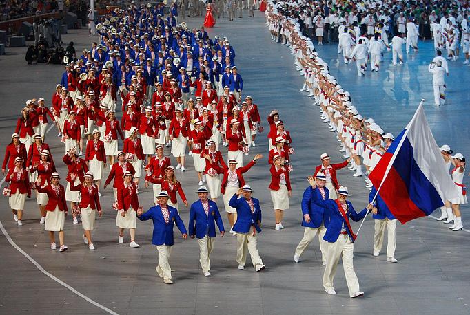 Олимпиада-2008. Игры в Пекине российская команда завершила на третьей строчке медального зачета, завоевав 73 награды (23, 21, 29)