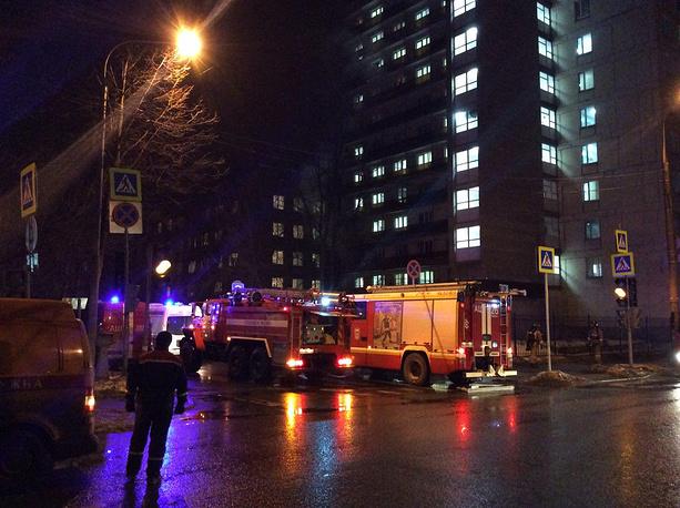 Пожар произошел вобщежитии навостоке столицы
