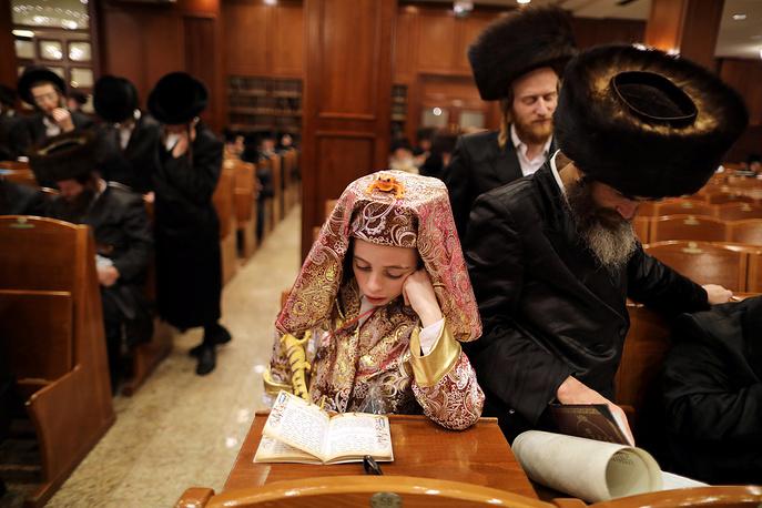 Участник церемонии чтения Свитка Эстер, Иерусалим