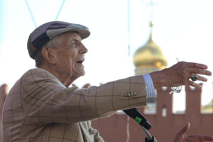 """На открытии книжного фестиваля """"Красная площадь"""", 2016 год"""