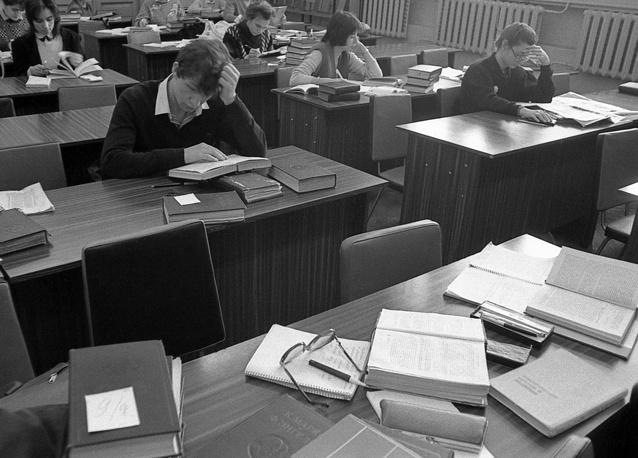 Подготовка к сессии,1988 год