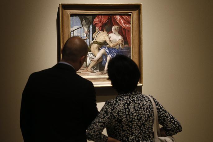 """Картина Веронезе """"Венера и Марс с амуром и лошадью"""""""