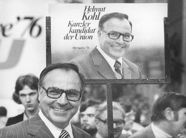 Глава партии Христианско-демократический союз (ХДС) Гельмут Коль во время выборов в бундестаг 1976 года. Бонн, 26 июня 1976 года