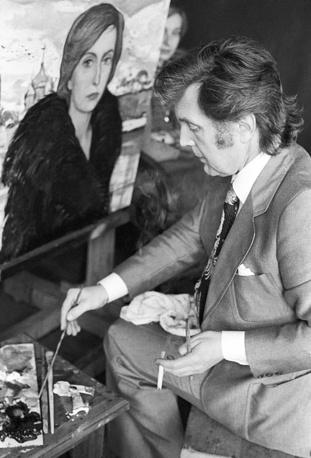 За работой в мастерской, 1978 год