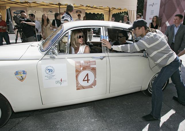 Во время Второго женского ралли на классических автомобилях, 2007 год