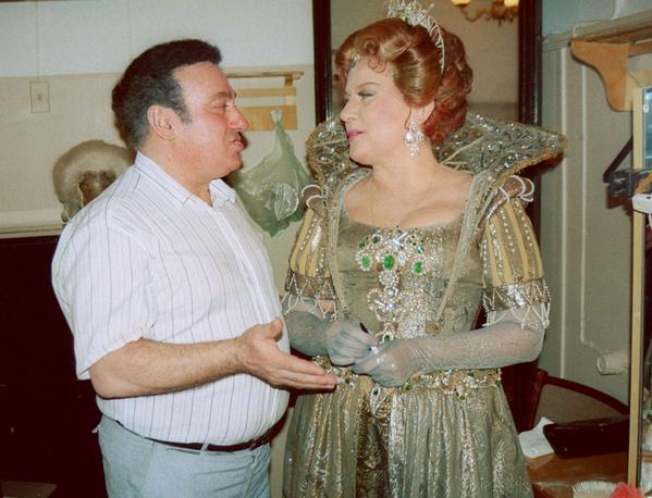 С Еленой Образцовой за кулисами, 1993 год