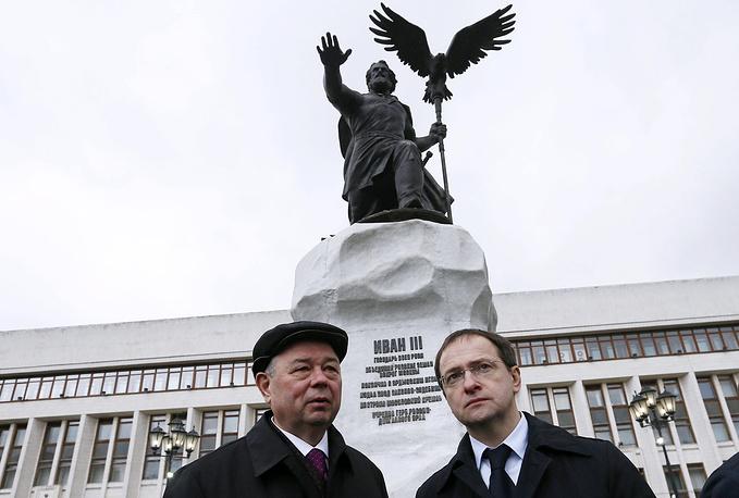 Губернатор Калужской области Анатолий Артамонов и министр культуры РФ Владимир Мединский