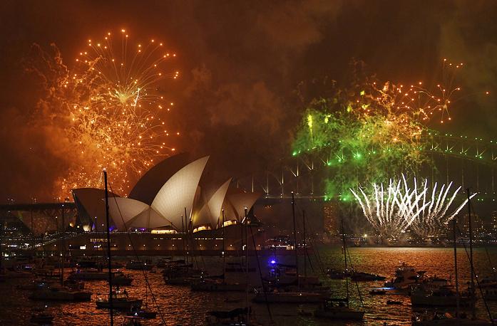 Празднование в Сиднее, Австралия