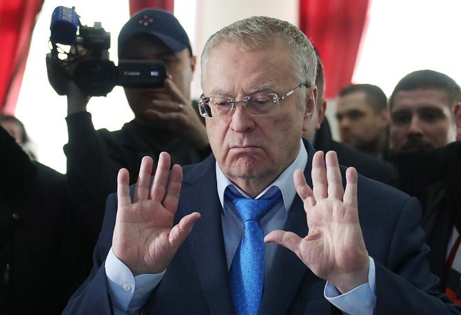 Кандидат на пост президента РФ от ЛДПР Владимир Жириновский