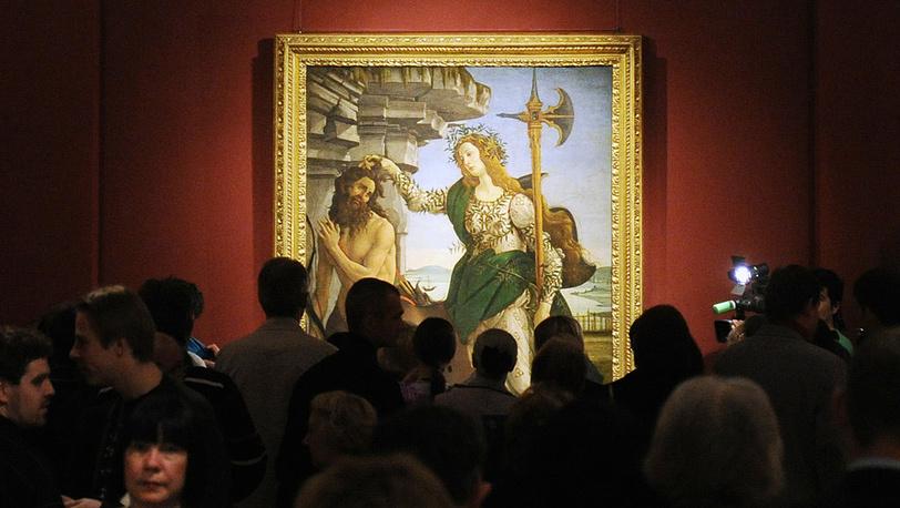 """ГМИИ. Картина Сандро Боттичелли """"Паллада и Кентавр"""""""