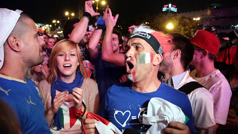 Сборная Италии одержала победу