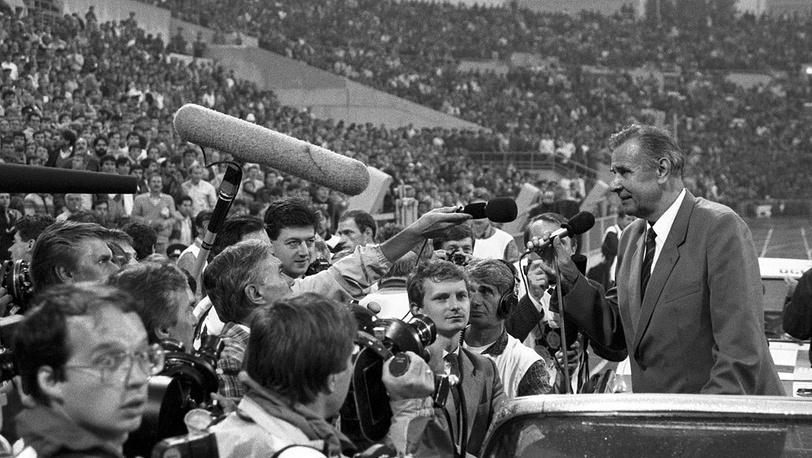 Лев Яшин отмечает свое 60-летие, 1989 год