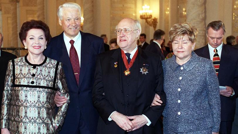 Награждение Мстислава Ростроповича