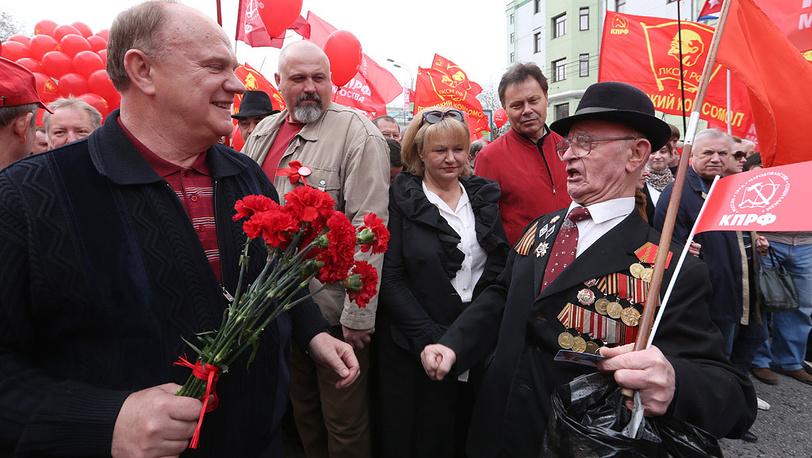 Г. Зюганов на митинге КПРФ. Москва