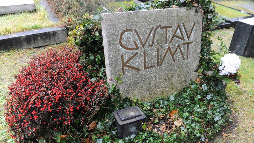 Могила художника на кладбище Хитцинг в Вене