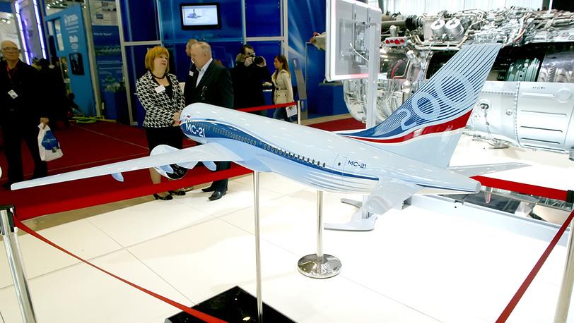 """Модель МС-21, Международный салон """"Двигатели - 2012"""""""