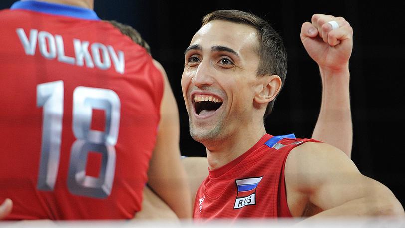 Игрок сборной России Александр Соколов