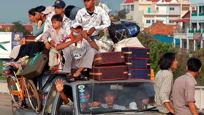 Так выглядит такси в Камбодже
