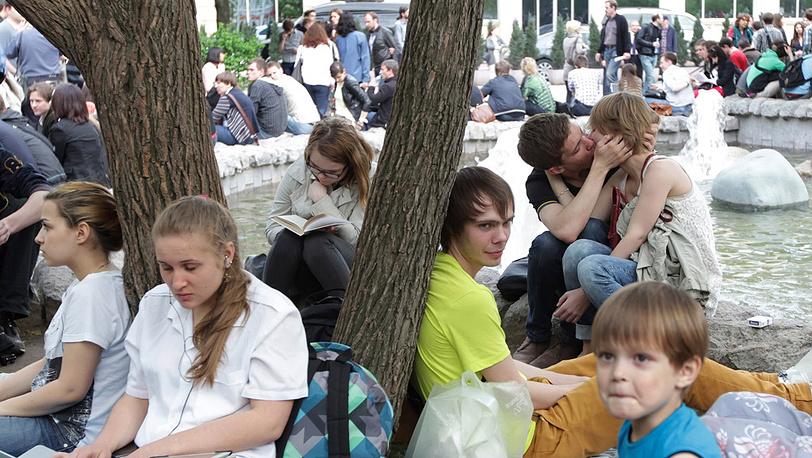 Лагерь оппозиции на Чистопрудном бульваре