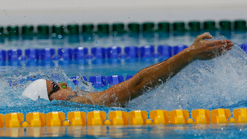 Оксана Савченко, плавание на 100 м на спине