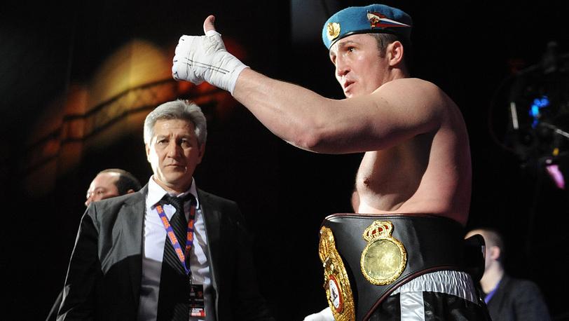 Денис Лебедев после победы на Шоном Коксом
