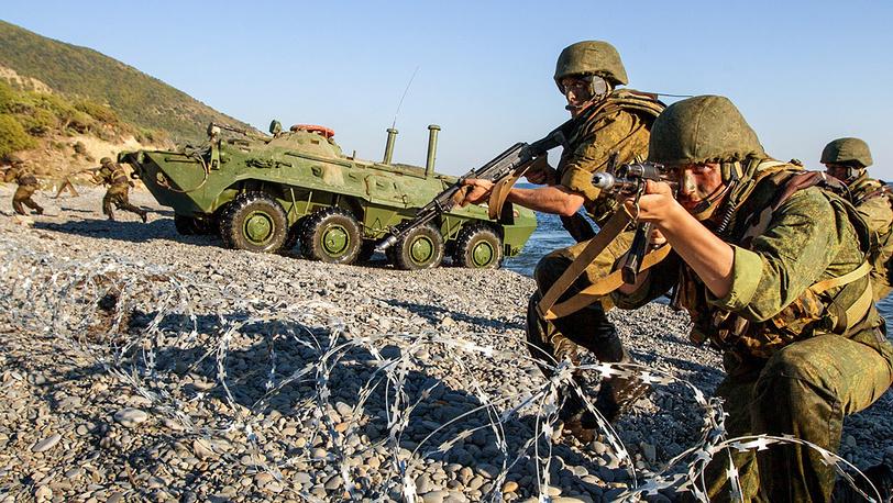 Захват берегового плацдарма морскими пехотинцами