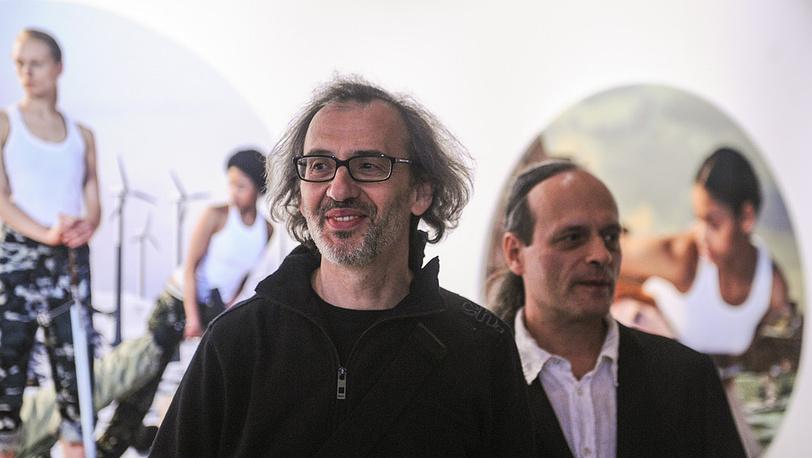 Член творческой группы AES+F фотограф Владимир Фридкес и художник Лев Евзович