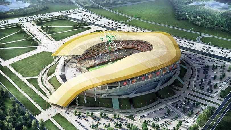 Макет стадиона в Ростове-на-Дону