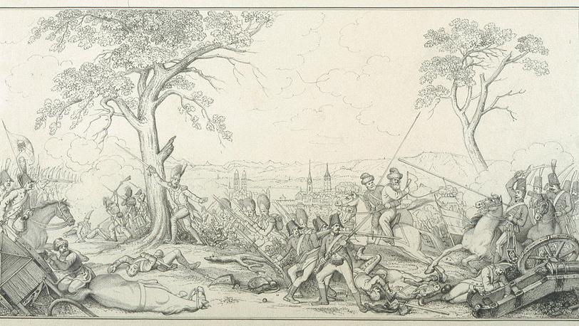 Битва 1799 года под Цюрихом /Фото предоставлены Управлением археологии Цюриха/
