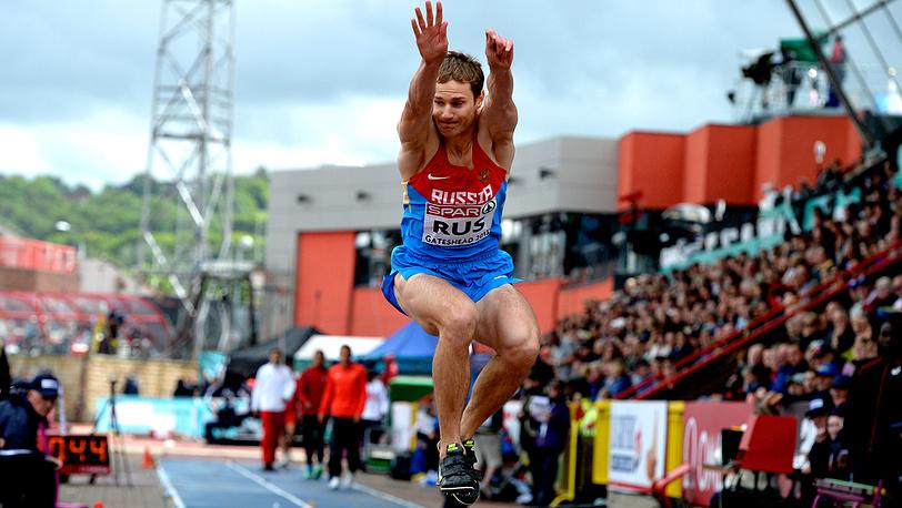 Алексей Фёдоров - победа в тройном прыжке
