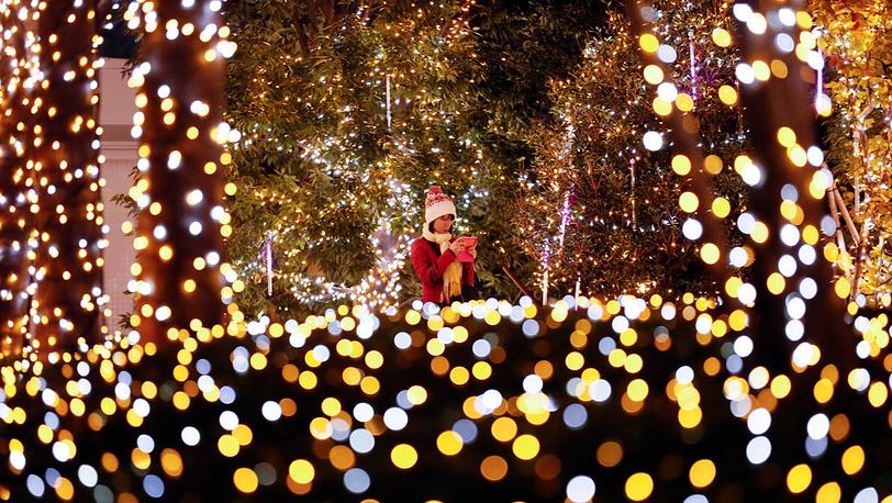 Рождественская иллюминация на улицах Токио