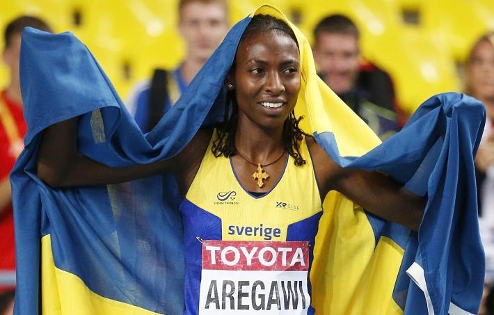 В забеге на 1500 м у женщин чемпионкой стала Абела Арегави из Швеции