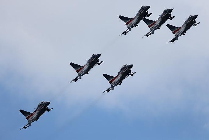 Китайские самолеты J-10. Фото ИТАР-ТАСС/ Марина Лысцева