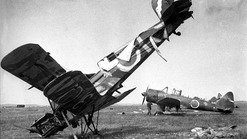 Японские самолеты. 1945. Фото  ИТАР-ТАСС/Александр Становов