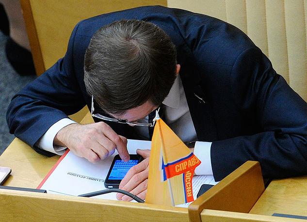 Председатель партии «Справедливая Россия» Николай Левичев. Фото ИТАР-ТАСС/ Станислав Красильников