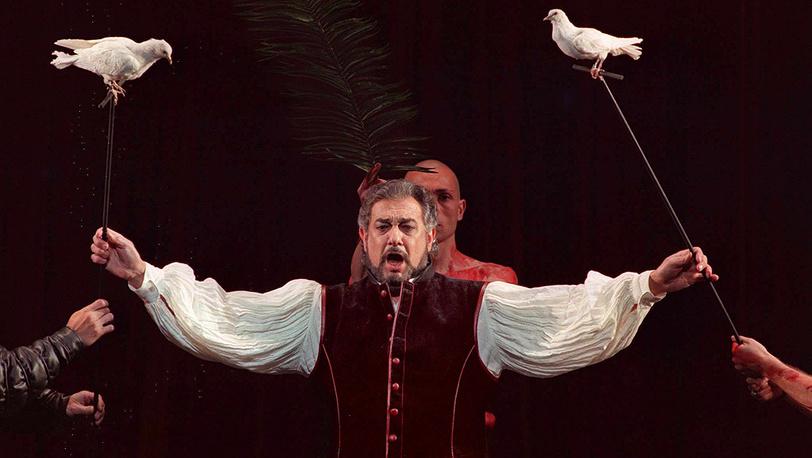 """Тенор Пласидо Доминго в опере Мейербера """"Пророк"""".  Фото EPA/APA ZEININGER"""