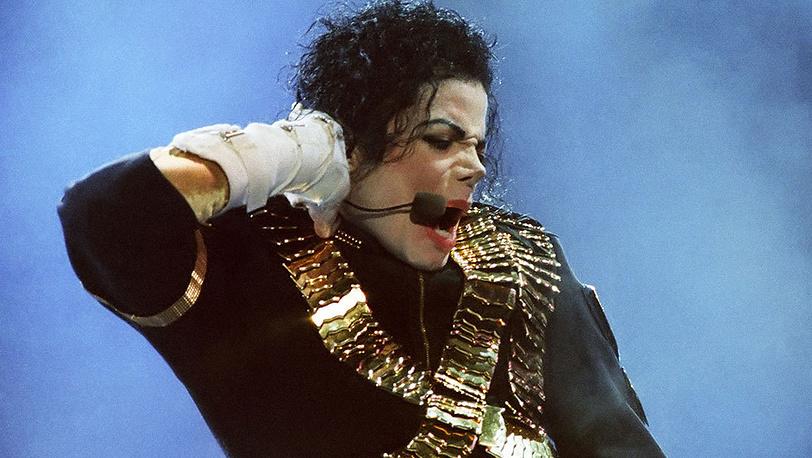 Майкл Джексон во время концерта в Лужниках, 1993 г.