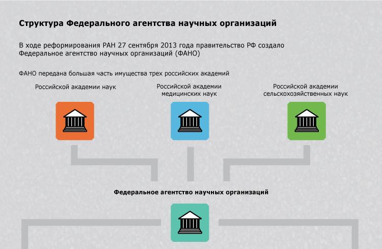 Структура Федерального агентства научных организаций