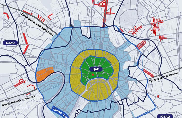 Расширение зоны платной парковки в Москве с 10 октября 2015 года