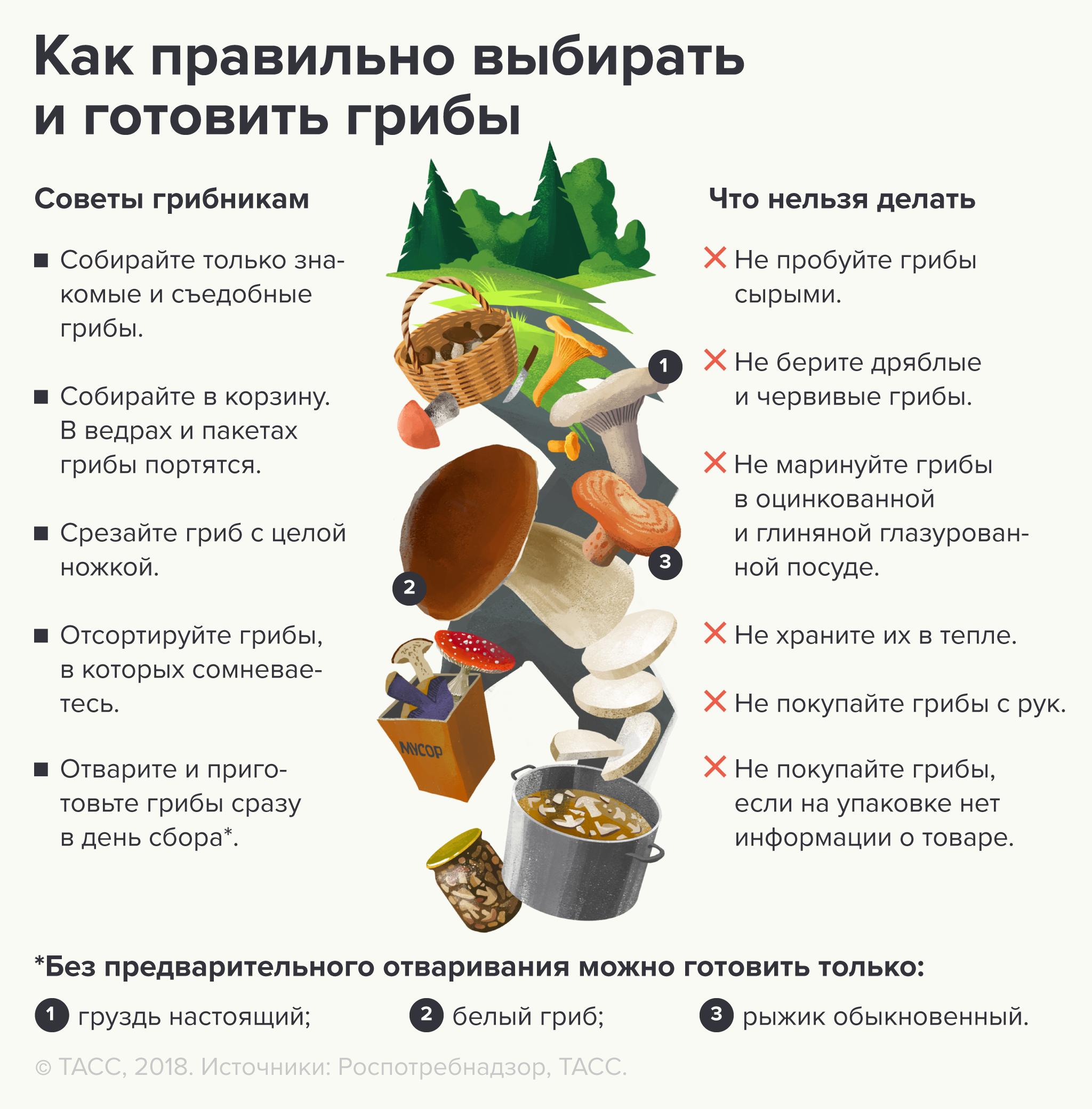 Как выбирать и готовить грибы