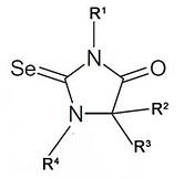 Общая структурная формула селелногидантиоинов