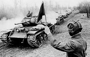 Танки КВ-1С 6-го полка прорыва гвардии полковника М.Е.Раневского.1943 г.