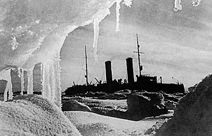 """Ледокол """"Красин"""" во льдах. 1930 год. ИТАР-ТАСС/Архив"""