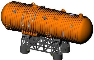 Вид подводного энергетического комплекса