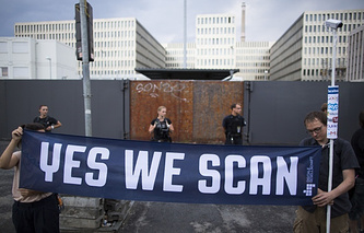 Protest against NSA surveillance in Berlin, Germany. July 29, 2013