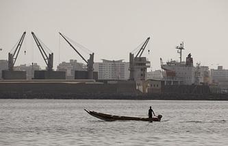 Port Dakar in Senegal