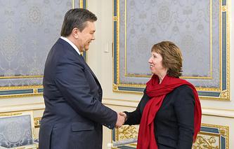 Ukrainian President Viktor Yanukovich has met with EU foreign policy chief Catherine Ashton