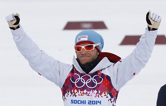 Norway's Martin Johnsund Sundby