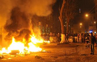 Disturbances in Western Ukraine